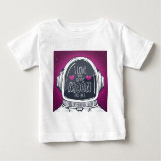 Liebe Sie zum Mond und zur Rückseite Baby T-shirt