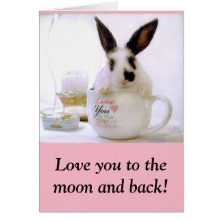Liebe Sie zum Mond und zur Rückseite! Karte
