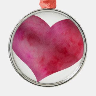 Liebe Silbernes Ornament