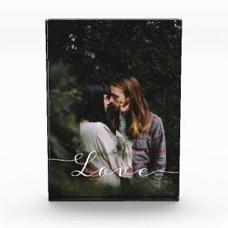 Liebe-Skript-Foto Fotoblock