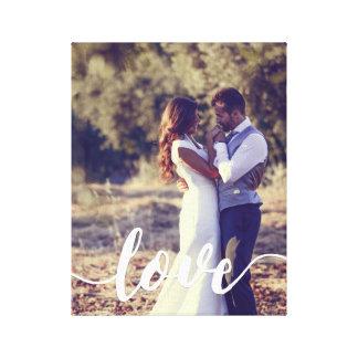 Liebe-Skript-Überlagerungs-Foto Leinwanddruck