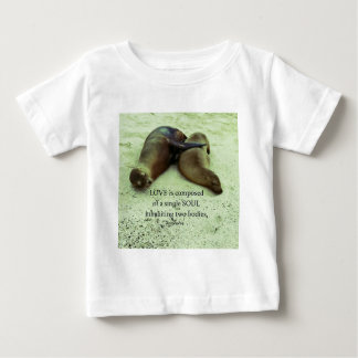 Liebe Soulmates Aristoteles-Zitat Baby T-shirt