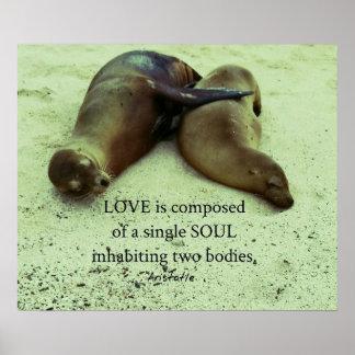 Liebe Soulmates Aristoteles-Zitat Poster