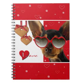 Liebe. Spaß-Valentinstag-Geschenk-Notizbuch Notizblock