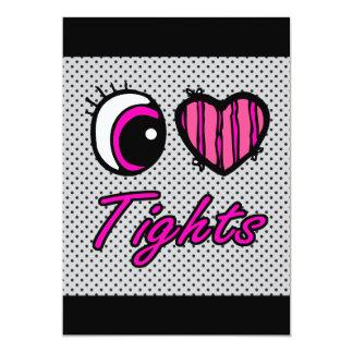 Liebe-Strumpfhosen des Emo Augen-Herz-I 12,7 X 17,8 Cm Einladungskarte
