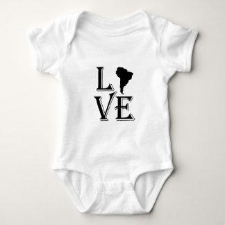 Liebe-Südamerika-Kontinentkarte Baby Strampler
