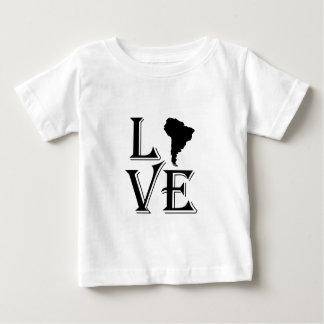 Liebe-Südamerika-Kontinentkarte Baby T-shirt