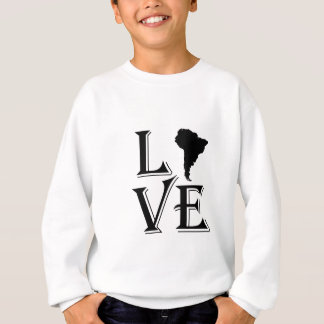 Liebe-Südamerika-Kontinentkarte Sweatshirt