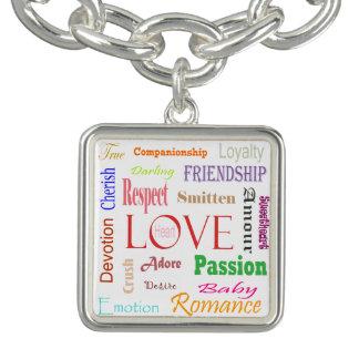 Liebe-Synonyme durch Shirley Taylor Charm Armband