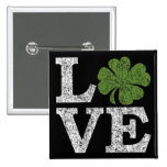 LIEBE Tag St. Patricks mit irischem Kleeblatt Anstecknadel