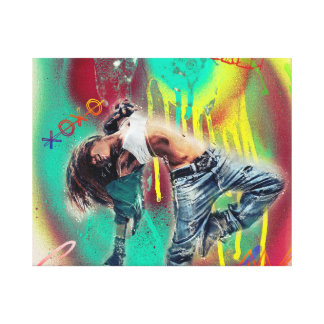 Liebe-Tanzmusik-Baby-Leinwand-Kunst Leinwanddruck