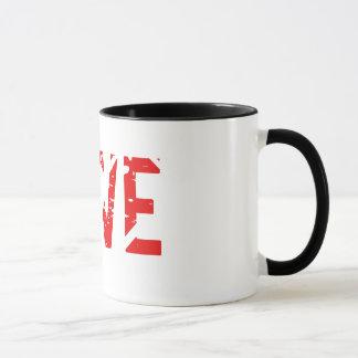 LIEBE-Tasse mit schwarzer Ordnung Tasse