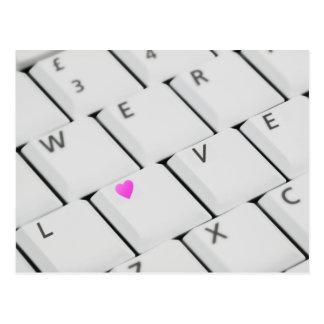 Liebe-Tastatur - Postkarte