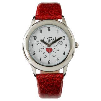 Liebe-Tätowierung der Krankenschwester-LPN Armbanduhr