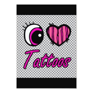 Liebe-Tätowierungen des Emo Augen-Herz-I 12,7 X 17,8 Cm Einladungskarte