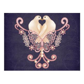 Liebe-Tauben Postkarte
