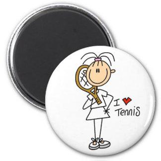 Liebe-Tennis-Magnet des Mädchen-I Runder Magnet 5,1 Cm