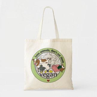 Liebe-Tiere essen sie nicht vegan Budget Stoffbeutel