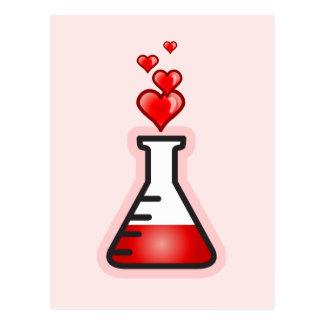 Liebe-Trank-Chemie, Wissenschaft der Gesundheit Postkarte