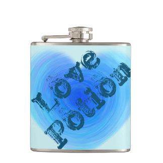 Liebe-Trank-tiefes blaues Wasser-Herz lustig Flachmann