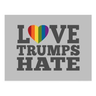Liebe-Trumpf-Hass - Antidonald trump Postkarte