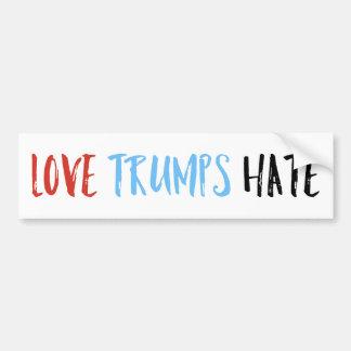 Liebe-Trumpf-Hass Autoaufkleber