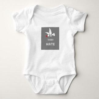 Liebe-Trumpf-Hass-Baby-T-Stück Baby Strampler