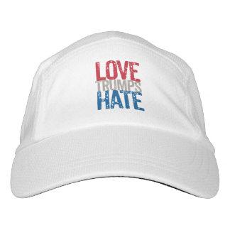 Liebe-Trumpf-Hass-Kappe Headsweats Kappe
