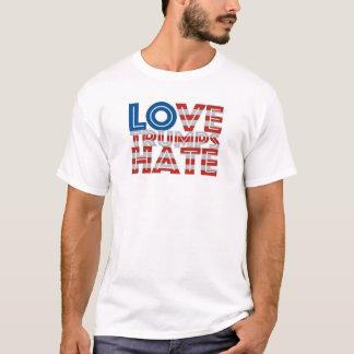 Liebe-Trumpf-Hass-T-Stück