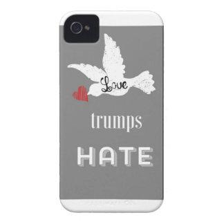 Liebe-Trumpf-Hass-Telefon-Abdeckung iPhone 4 Hüllen