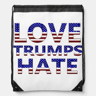 Liebe-Trumpf-Hass-US Flagge Sportbeutel