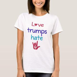 Liebe-Trümpfe hassen Antitrumpf T-Shirt