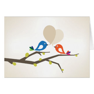 Liebe tweeten Gruß Grußkarte