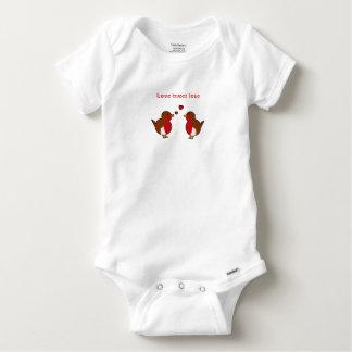 Liebe tweeten Lieberotkehlchen Baby Strampler