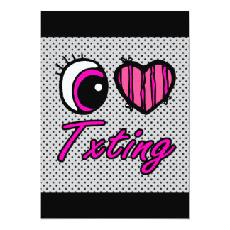 Liebe Txting des Emo Augen-Herz-I 12,7 X 17,8 Cm Einladungskarte