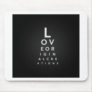 Liebe-Typografie Mousepad