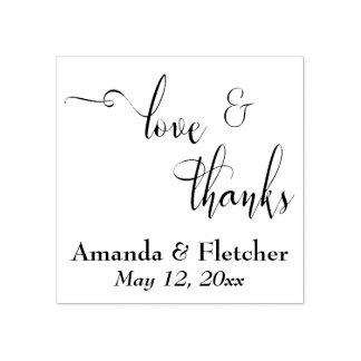 Liebe-u. Dank-elegante Skript-Typografie mit Gummistempel