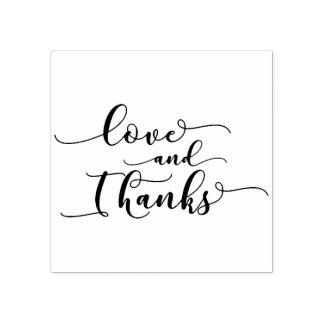 Liebe u. Dank-elegantes Skript für Dankbarkeit Gummistempel
