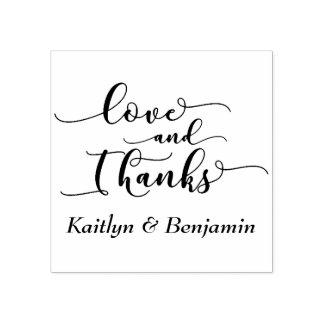 Liebe u. Dank-elegantes Skript mit Ihren Details Gummistempel