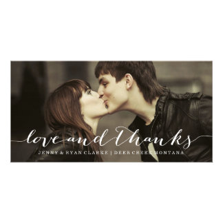 LIEBE U. DANK-SKRIPT |WEDDING DANKEN IHNEN FOTO-KA PERSONALISIERTE FOTO KARTE