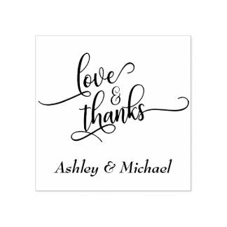 Liebe-u. Dank-Typografie mit Ihren Details Gummistempel