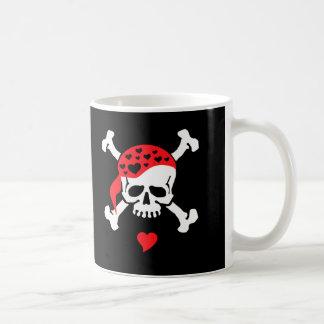 Liebe u. gekreuzte Knochen Kaffeetasse
