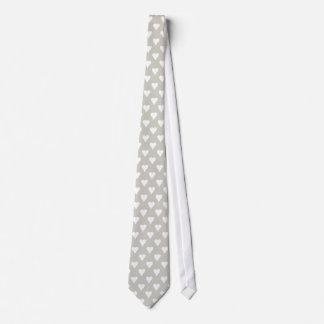 Liebe-u. Herz-Krawatten-Hals-Krawatten-graue Krawatte