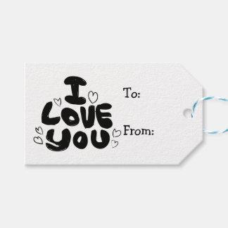 Liebe u. Herzen schwarz u. Weiß - Hochzeit, Geschenkanhänger