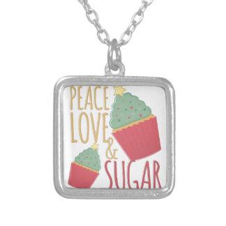 Liebe u. Zucker Versilberte Kette