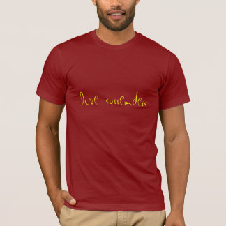 Liebe übergibt (Gelb auf Moosbeere) T-Shirt
