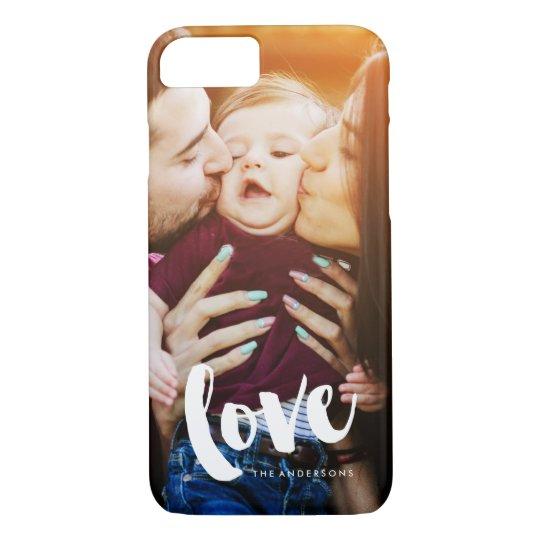 """""""Liebe-"""" Überlagerungs-Foto iPhone 8/7 Hülle"""