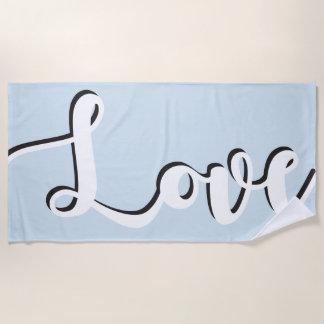 Liebe-Überlagerungs-Skript handgeschrieben Strandtuch