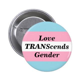 Liebe überschreitet Geschlechts-Knopf Runder Button 5,7 Cm