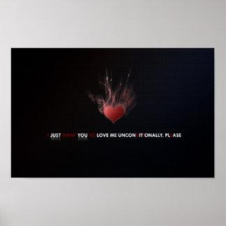 Liebe-unbedingt Druck Poster